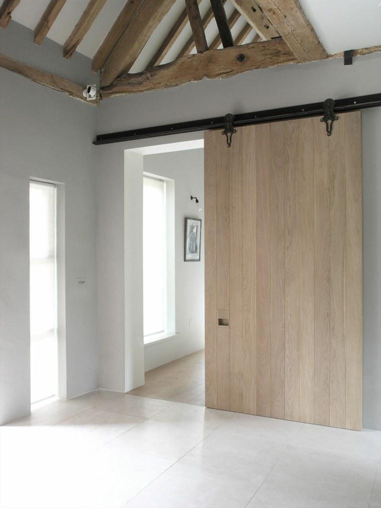 ambiente rustico puerta deslizante funcional