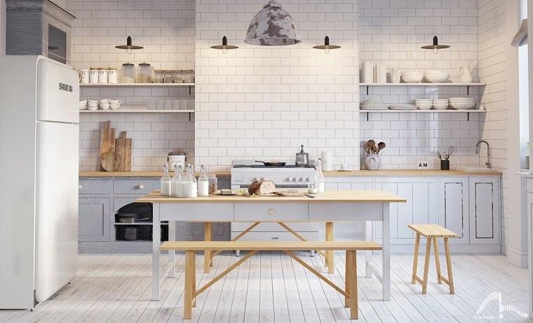 Estantes abiertos para cocina ideas de almacenamiento for Mobel scandinavian design