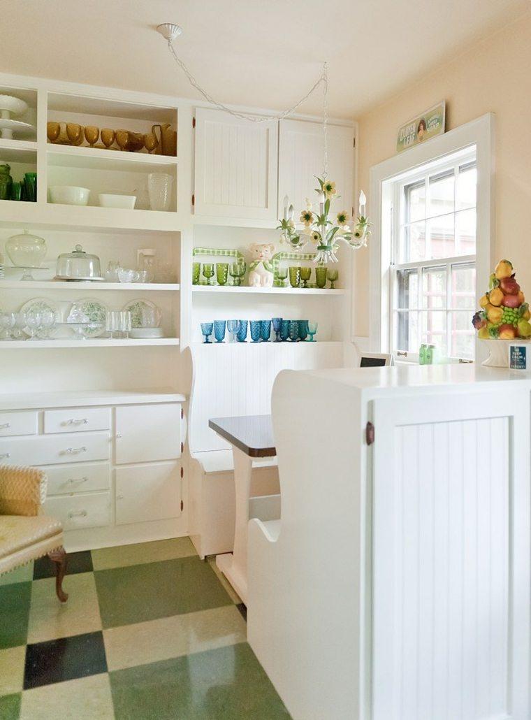 suelo de cocina verde