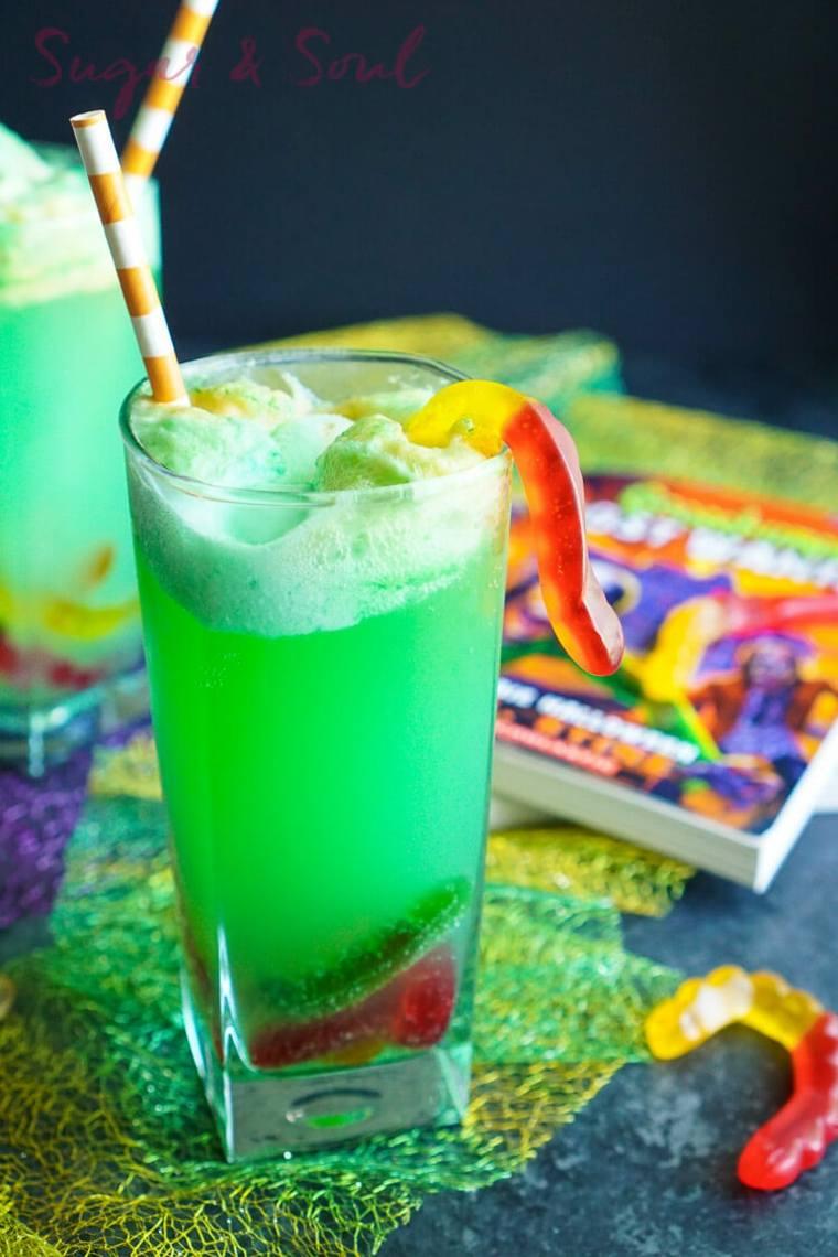 bebidas verdes para Halloween