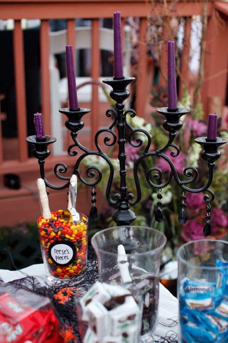 bodas temáticas-halloween-candelabro-decoracion