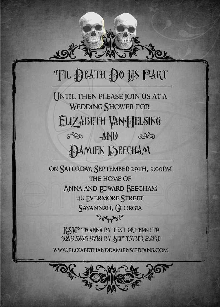 bodas temáticas-halloween-invitaciones-originales