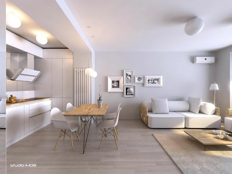 diseño de sala de estar minimalista