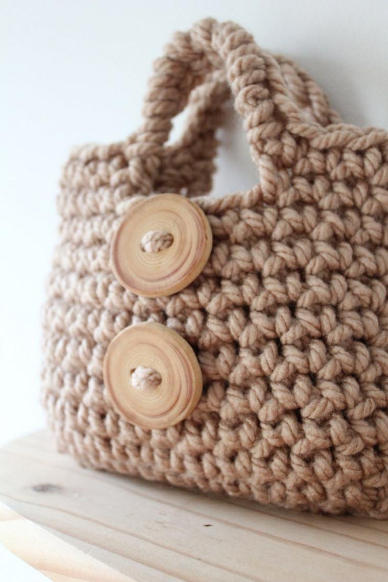 original bolso de trapillo rosa