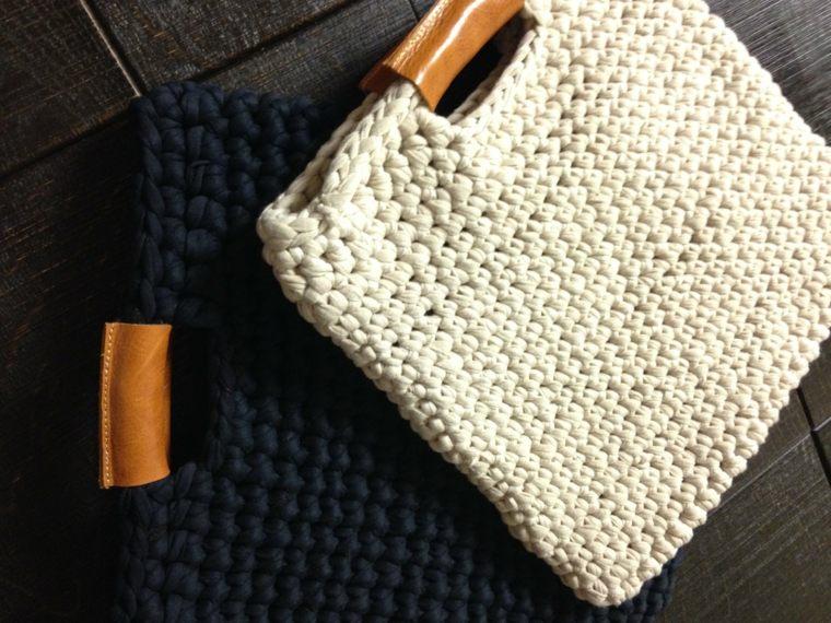bonitos diseños de bolsos de trapillo