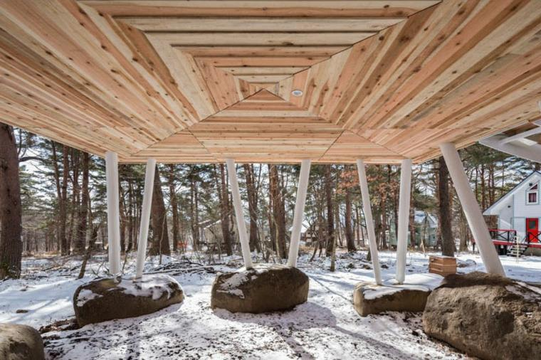 casa de madera diseño para descanso