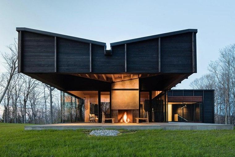 casas modernas ideas madera tratada