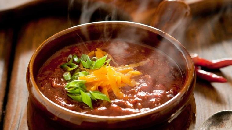 receta de chili con carne vegetariano