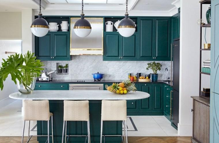 cocina-diseno-muebles-color-verde-opciones