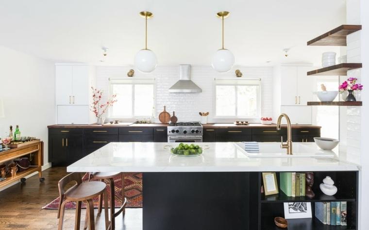 cocina-moderna-combinacion-negro-blanco