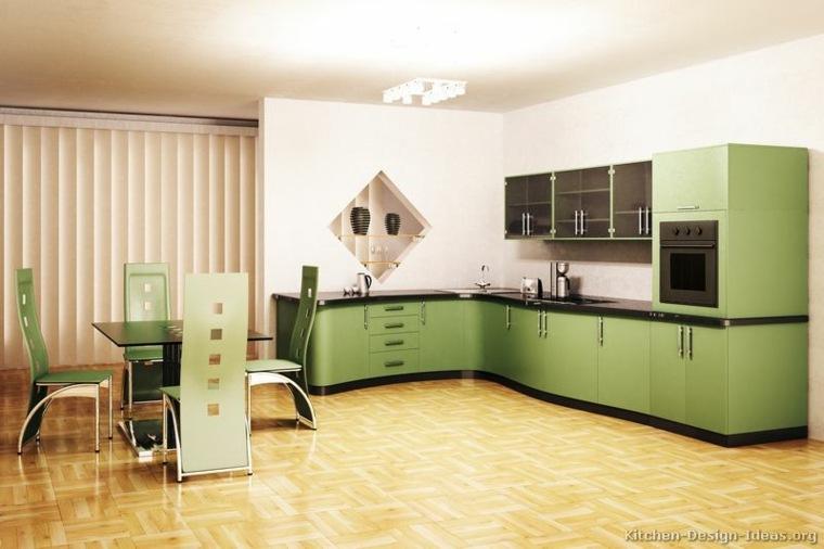 cocina verde claro