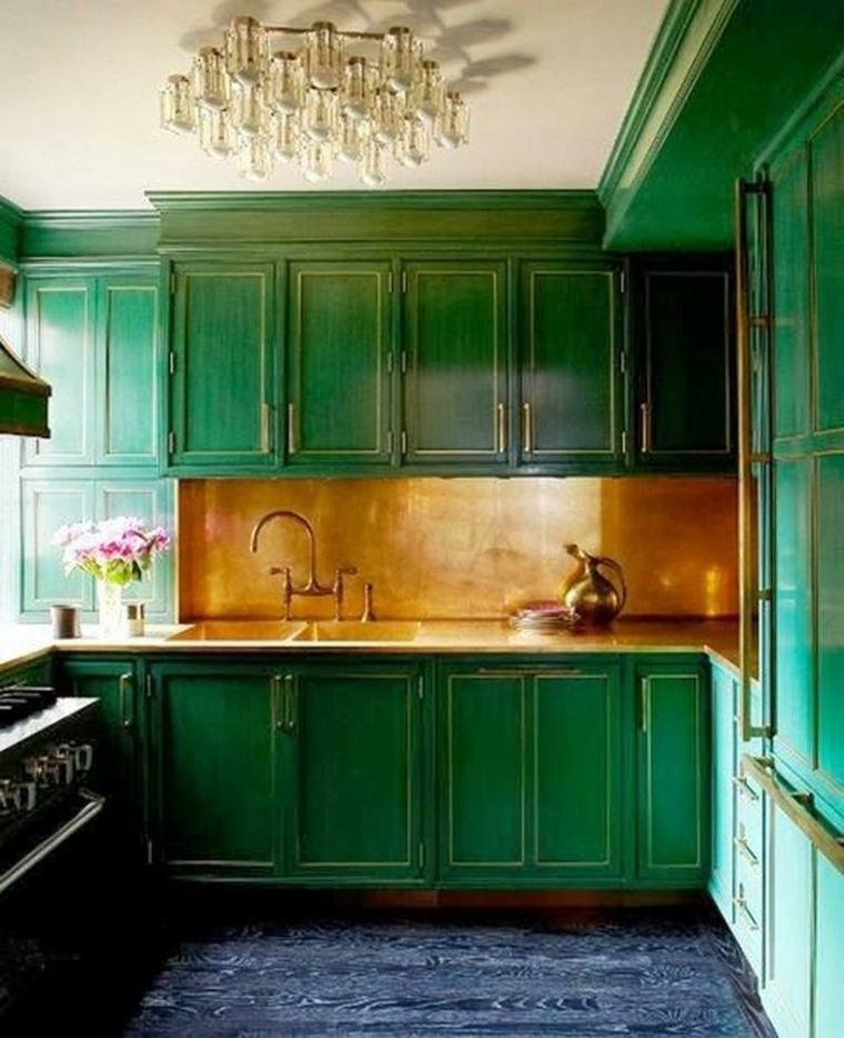 cocina verde retro