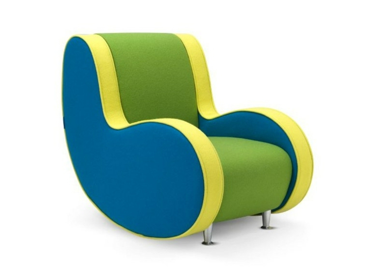 colorido divertido sofa sillon