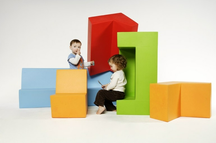 combinaciones formas geometricas coloridas