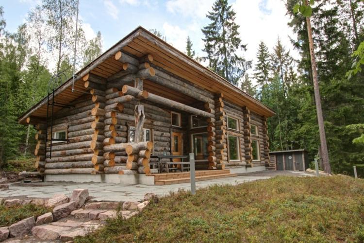concepto tradicional troncos montados
