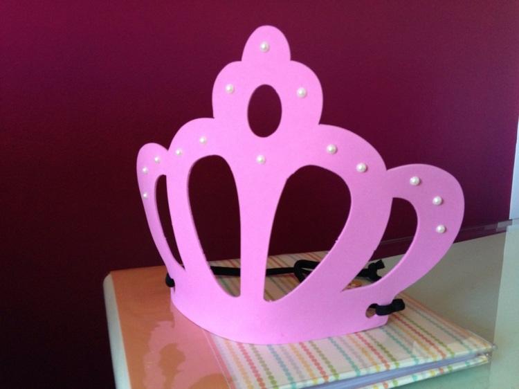 corona rosa fiestas niñas