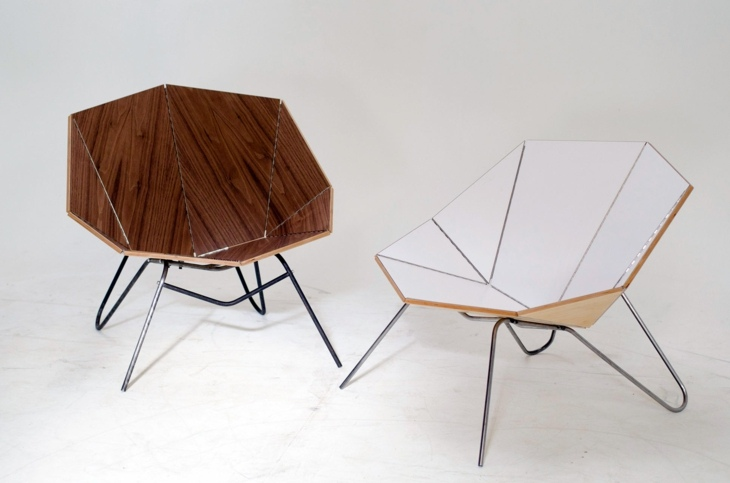 creativa combinacion materiales estilo origami
