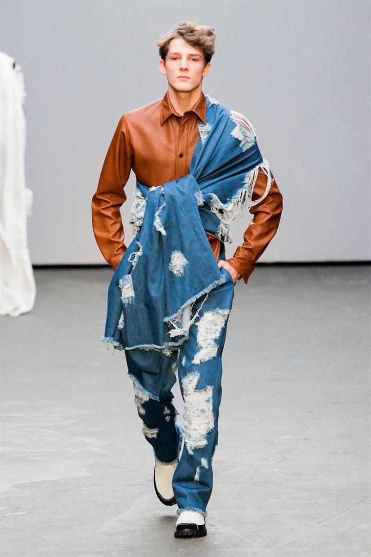 la moda deconstructivismo pantalones iregulares