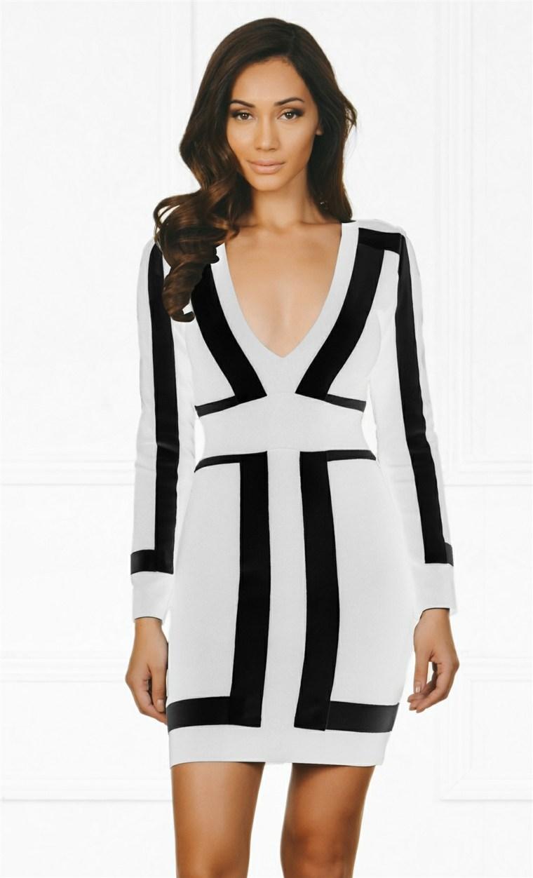 diseno-de-moda-estilo-geometrico-vestido-sexy