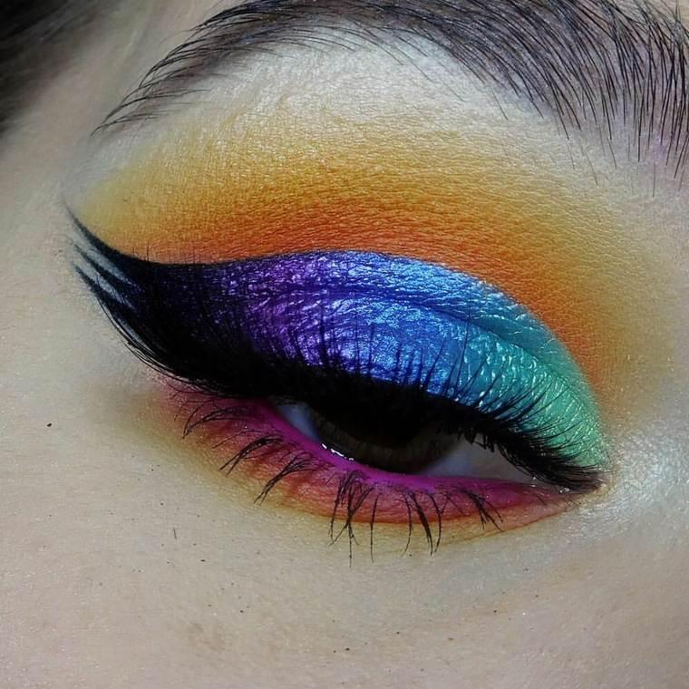 diseno-simple-maquillaje-neon-ojos