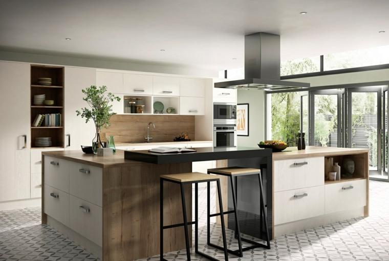 disenos-de-cocinas-estilo-contemporaneo-combinacion materiales