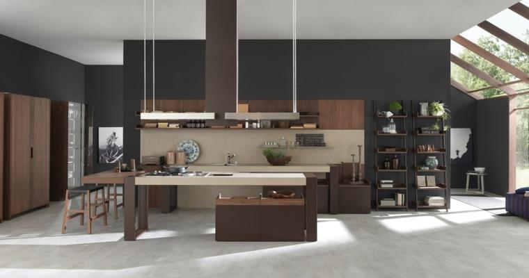 disenos-de-cocinas-estilo-contemporaneo-madera-colores-oscuros