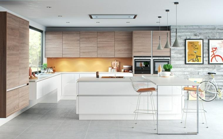 diseños de cocinas -estilo-contemporaneo-opciones