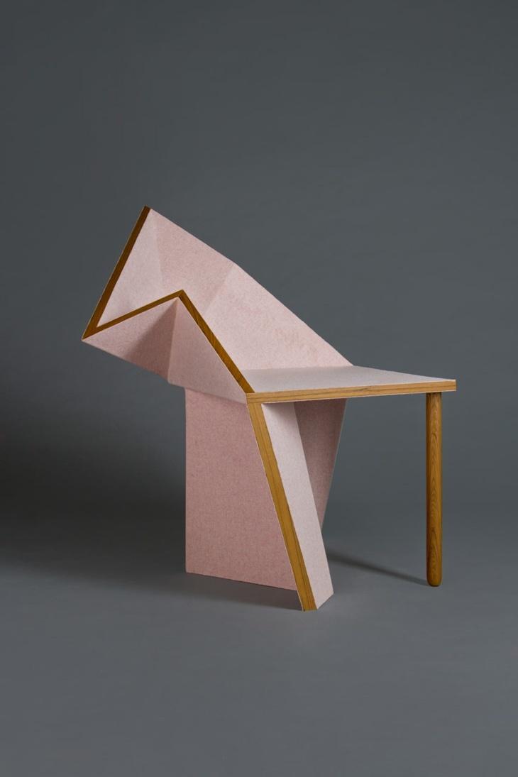 efecto elegante silla tipo origami