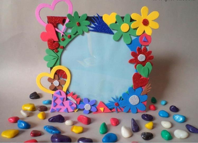 enmarcado flores goma eva