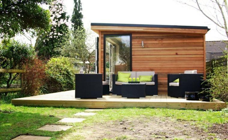 caseta de jardín moderna