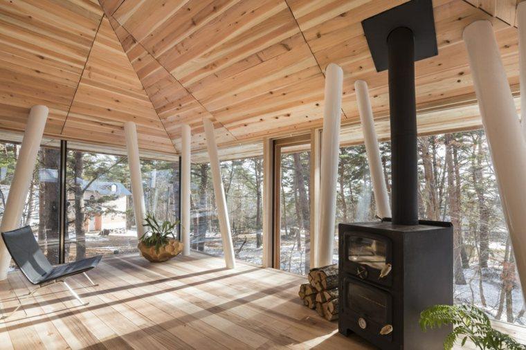 espacio interior abierto plnatas
