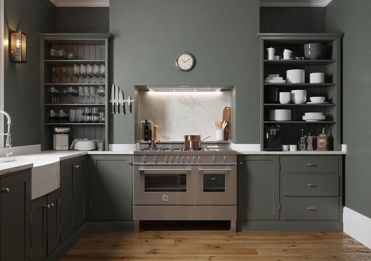 Estantes abiertos para cocina ideas de almacenamiento - Estanterias para la cocina ...