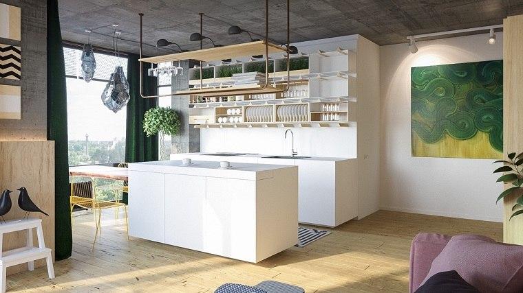 Estantes abiertos para cocina - ideas de almacenamiento modernas y ...