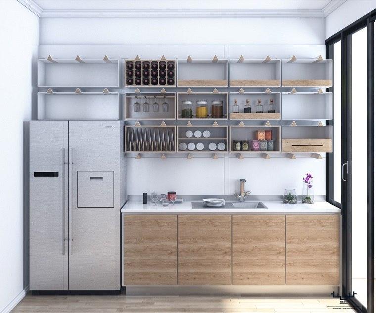 estantes de cocina integrados