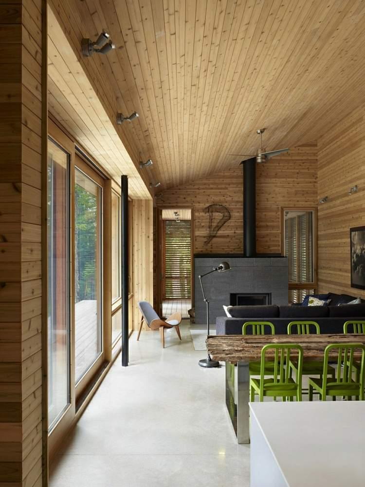 estilo moderno interiores calidos