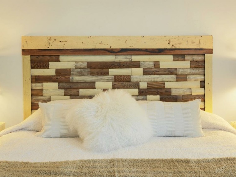 originales cabeceros de madera