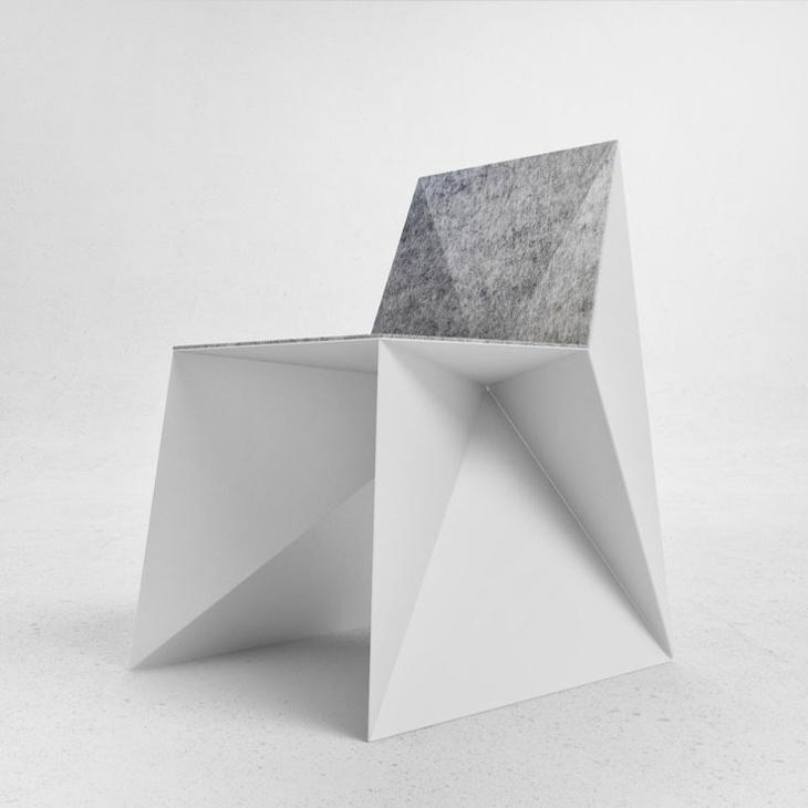 fresca silla elegante blanco gris