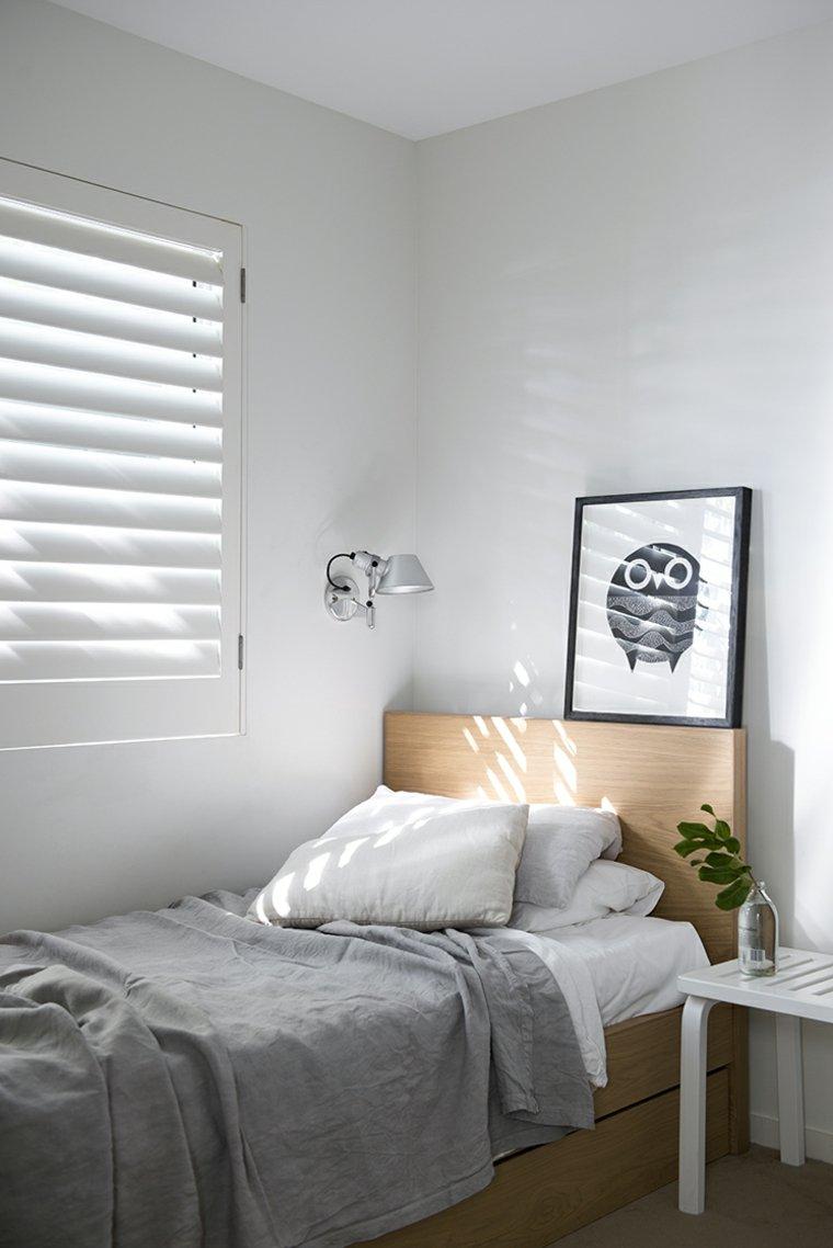 diseño de dormitorio de estilo minimalista