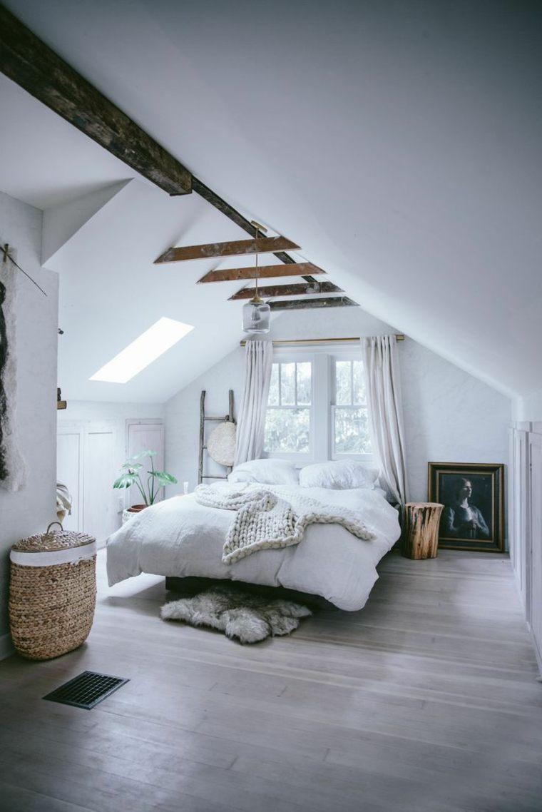 decoración de habitación rústica