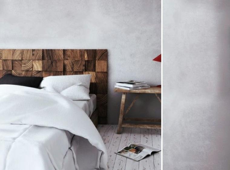 cabecero de madera moderno