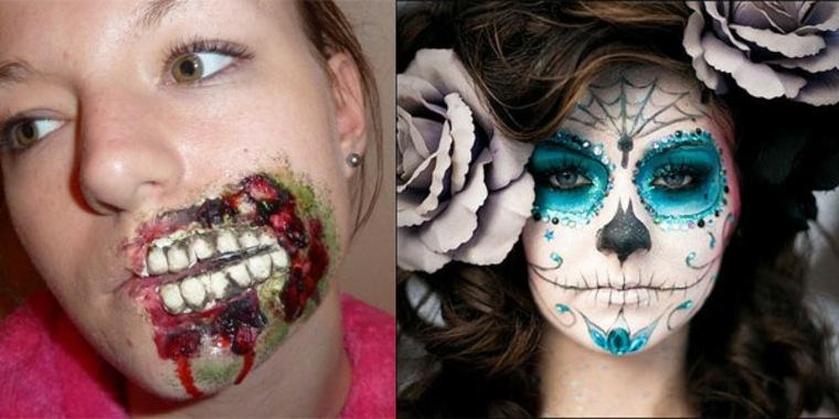 maquillaje de Halloween para chica
