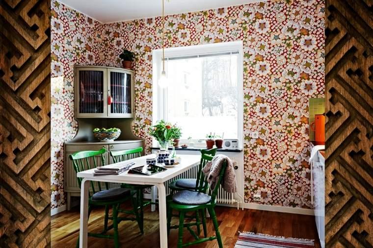 ideas-para-decorar-paredes-acento-comedor-pequeno