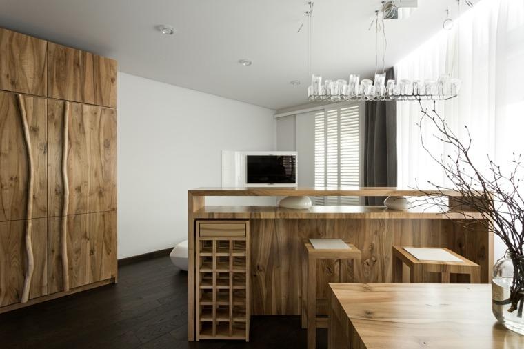 iluminacion interior cocina-techo-barra