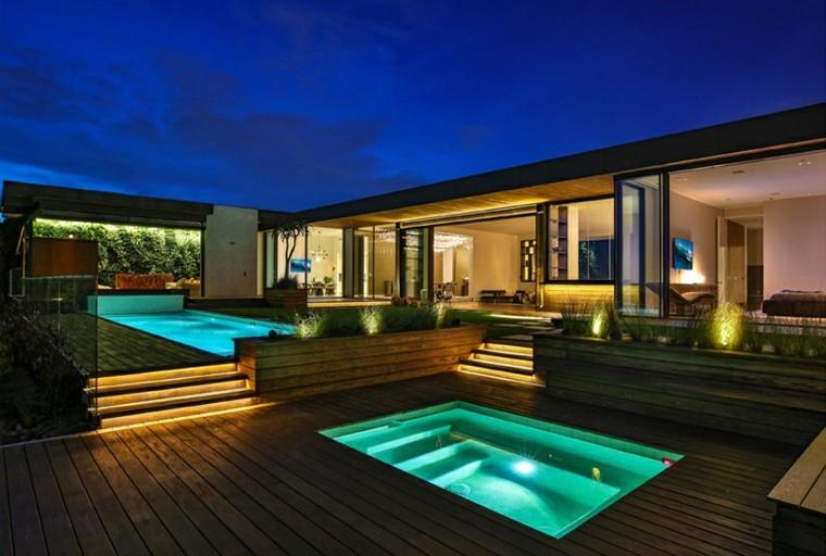 iluminacion piscina zonas jardines