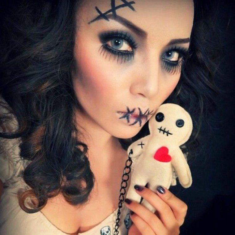 maquillaje de Halloween para mujere