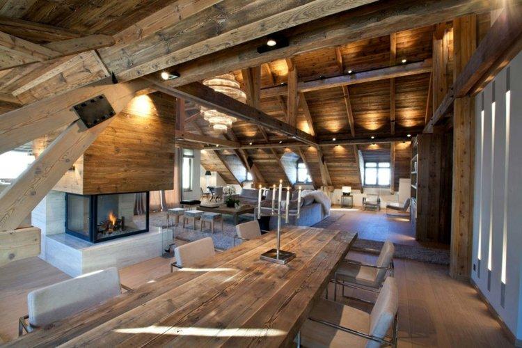 increíble interior cabana madera