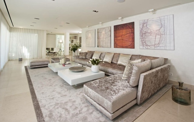estupendo diseño de salón minimalista