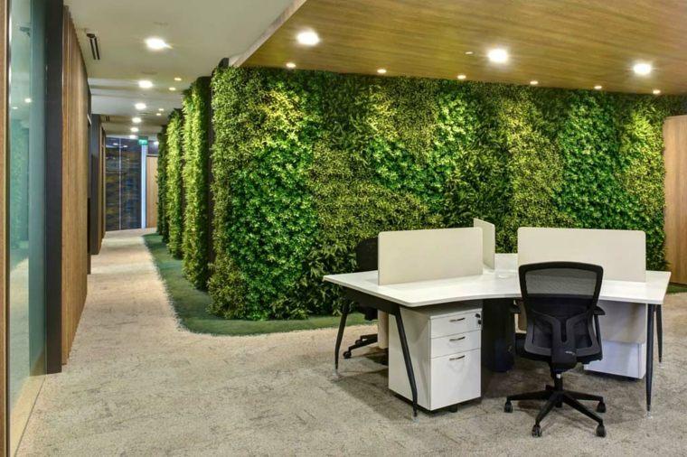 Jardines verticales de interior decorar oficinas con for Jardin vertical oficina