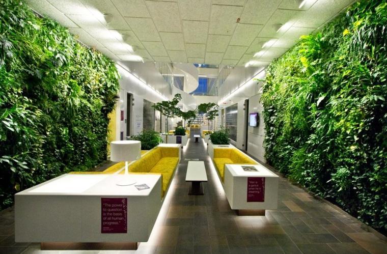 vertical garden to decorate office