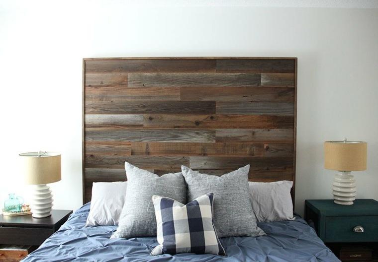 diseño de cabecero de madera rústico